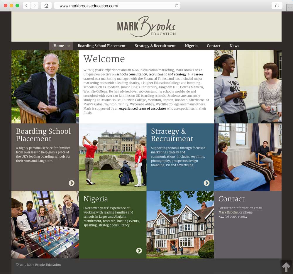 Mark Brooks Education home page
